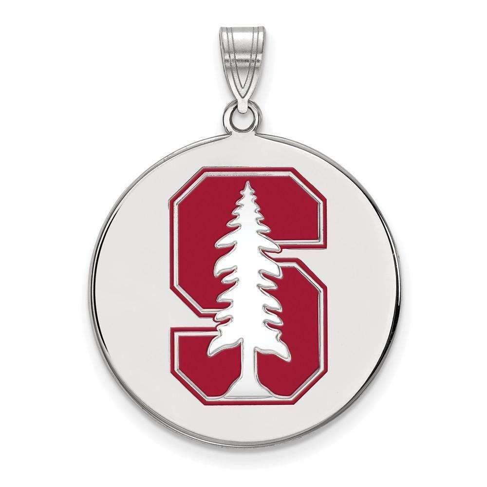 925 Sterling Silver Rhodium-plated Laser-cut Youngstown State University Large Pendant w//Necklace 18