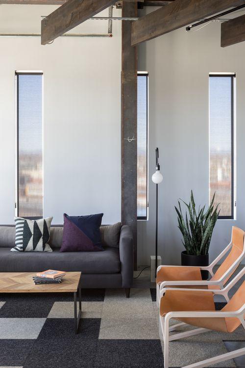 office offbeat interior design. blu dot toro lounge chairs interior design by swiss milk studios office offbeat a
