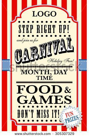 Carnival Flyer Template Flyers in 2019 Flyer template, School
