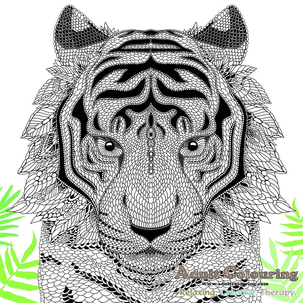 The Menagerie: Animal Portraits to Colour | Coloring pages ...