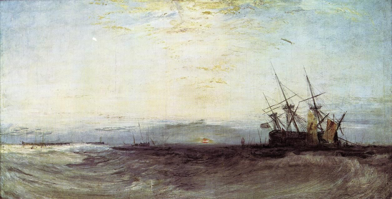 A Ship Aground, 1828  William Turner