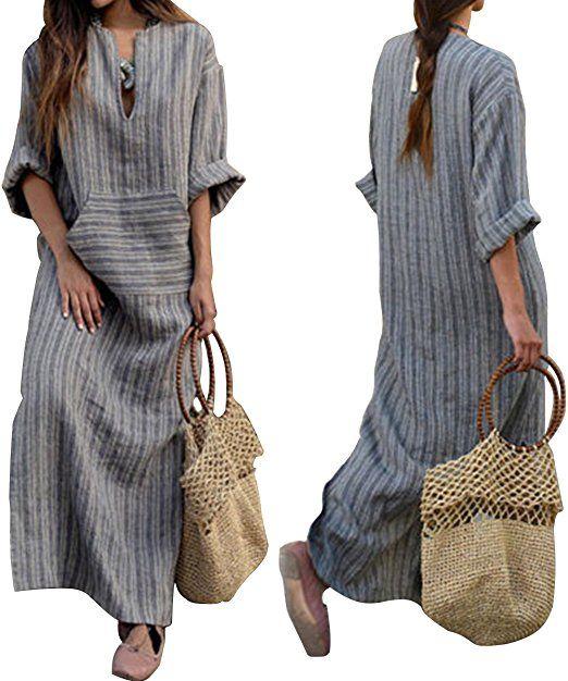 competitive price 01911 876e2 LANOMI Damen Maxikleid Sommerkleid Kleider Boho Party Kleid ...