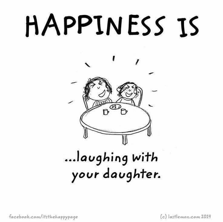 Happiness Is Laughing With Your Daughter Tochter Mother