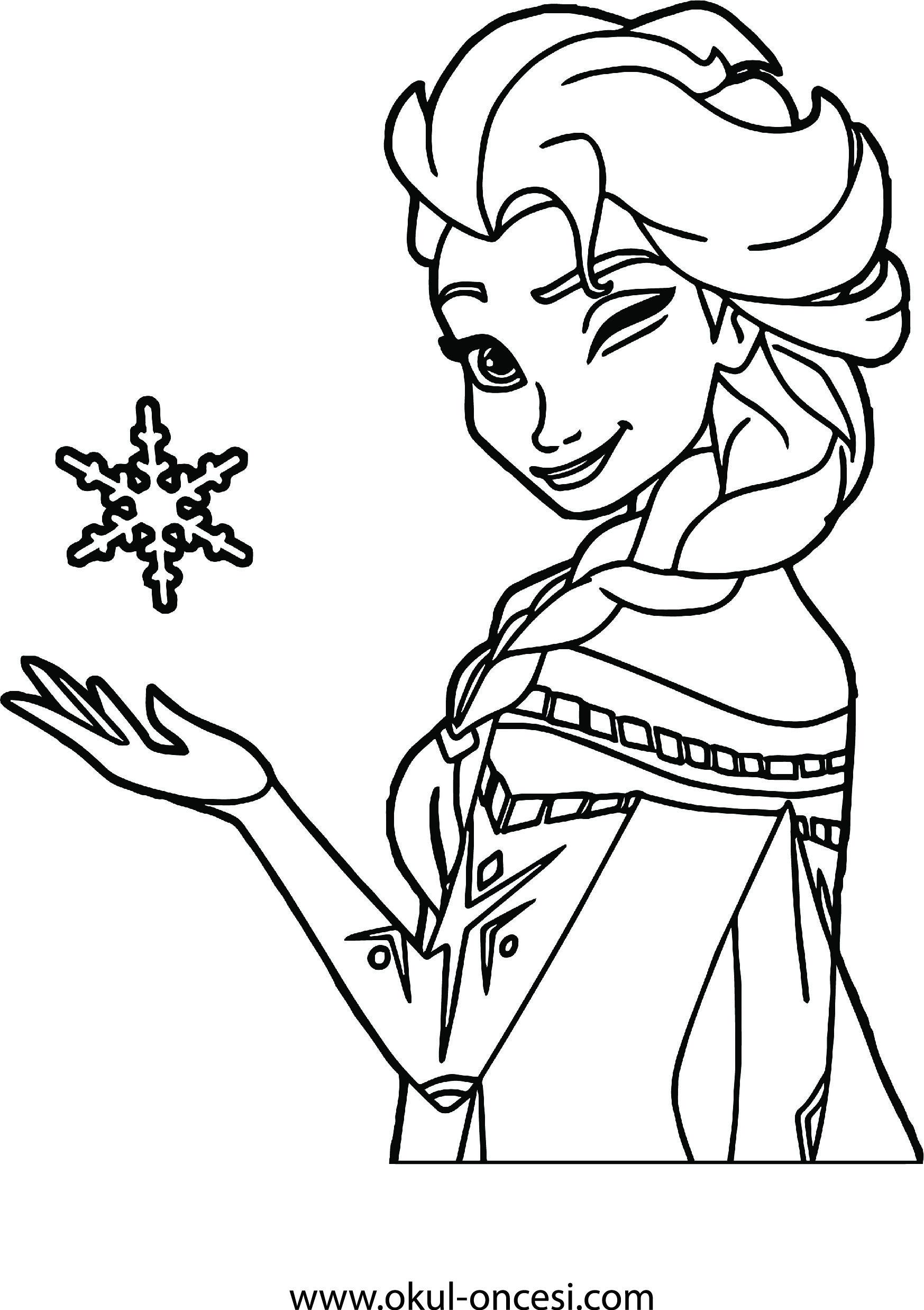 Frozen Anna Printable Coloring Page Frozen Elsa Boyama Sayfasi Boyama Sayfalari Frozen Elsa