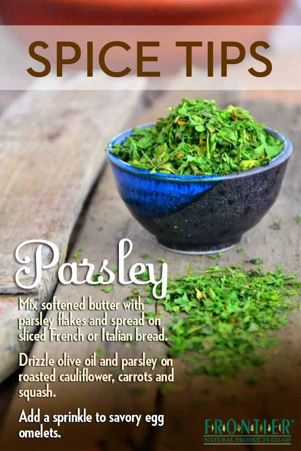Ways to use dried #parsley #spice #tips