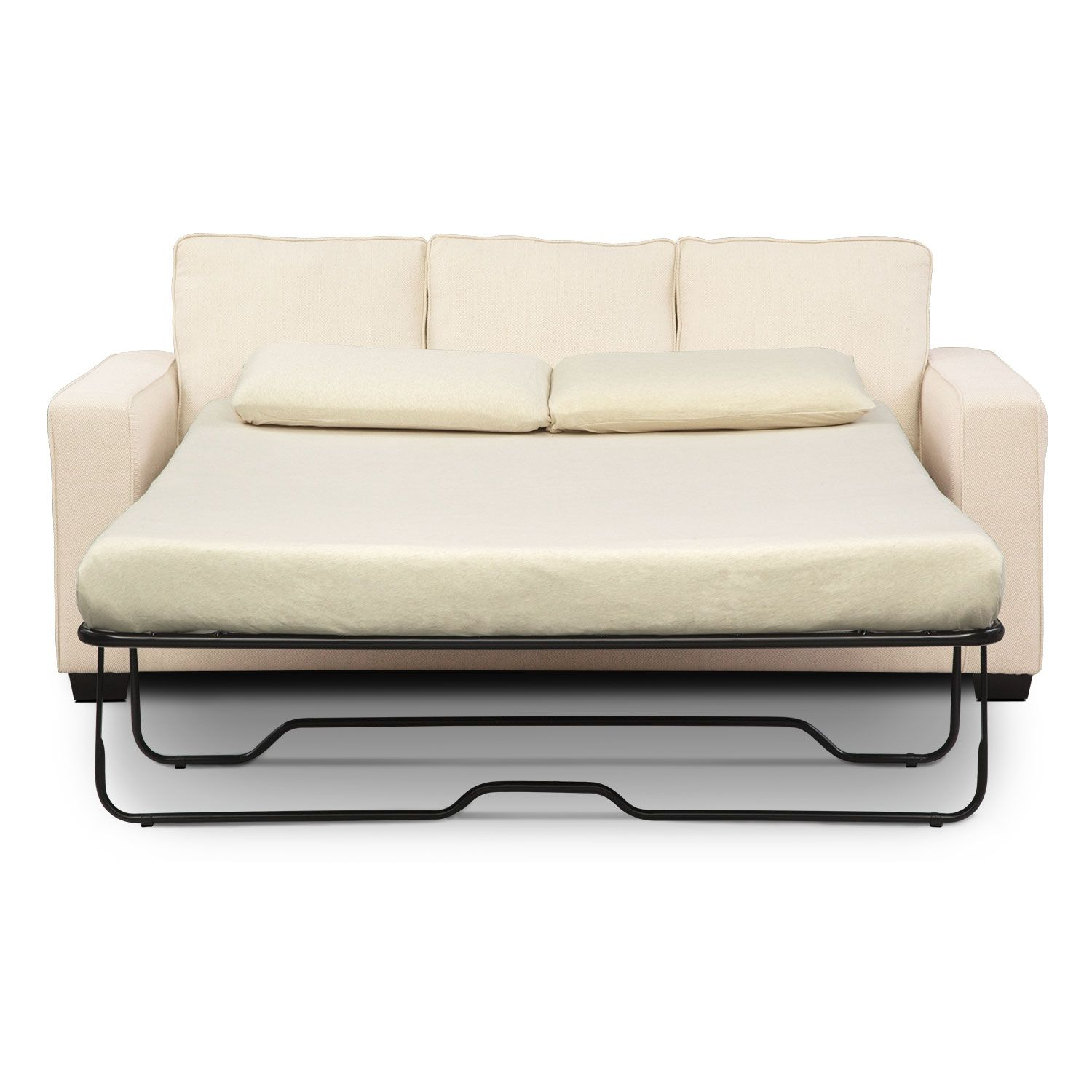 Sterling Beige Queen Innerspring Sleeper Sofa w/ Chaise   Value City ...