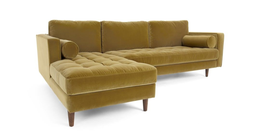 Outstanding Scott 4 Seater Left Hand Facing Chaise End Corner Sofa Gold Pabps2019 Chair Design Images Pabps2019Com