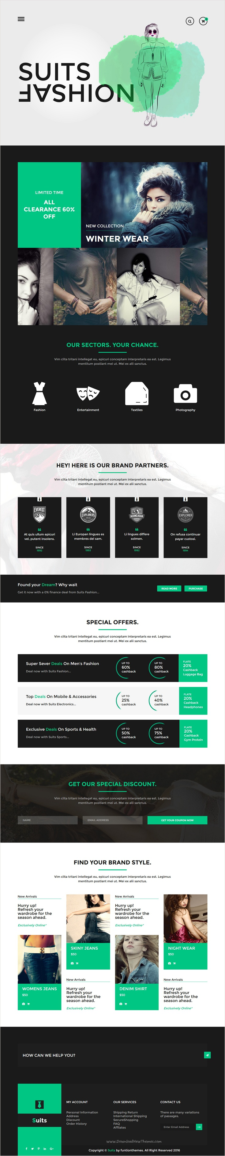Suits - Fashion HTML Template | Template and Portfolio website