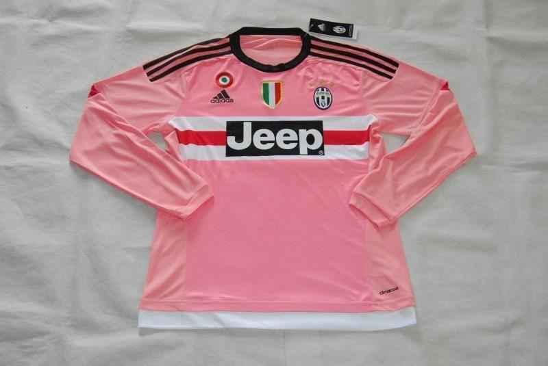 juventus jersey 2015 16 away pink ls soccer shirt with all patch soccer shirts soccer jersey jersey pinterest