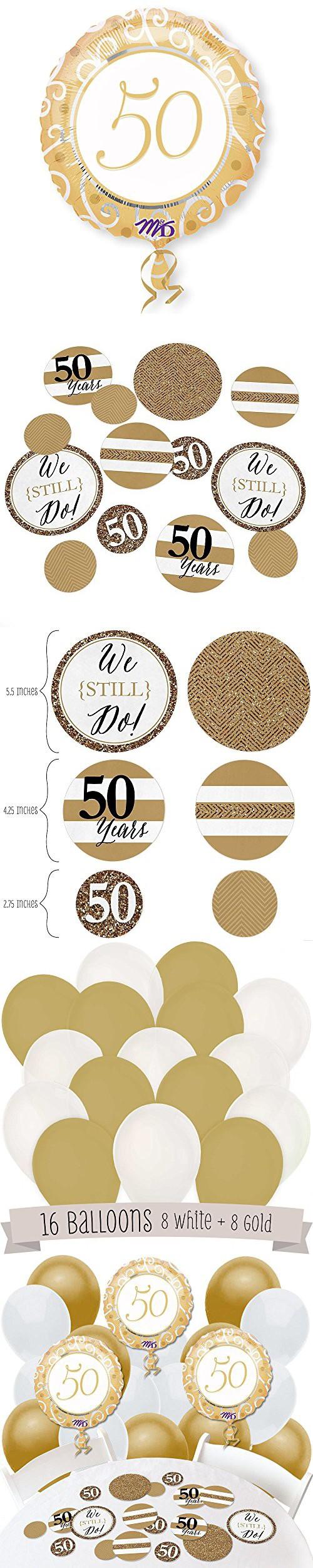 We Still Do - 50th Wedding Anniversary - Confetti and Balloon ...