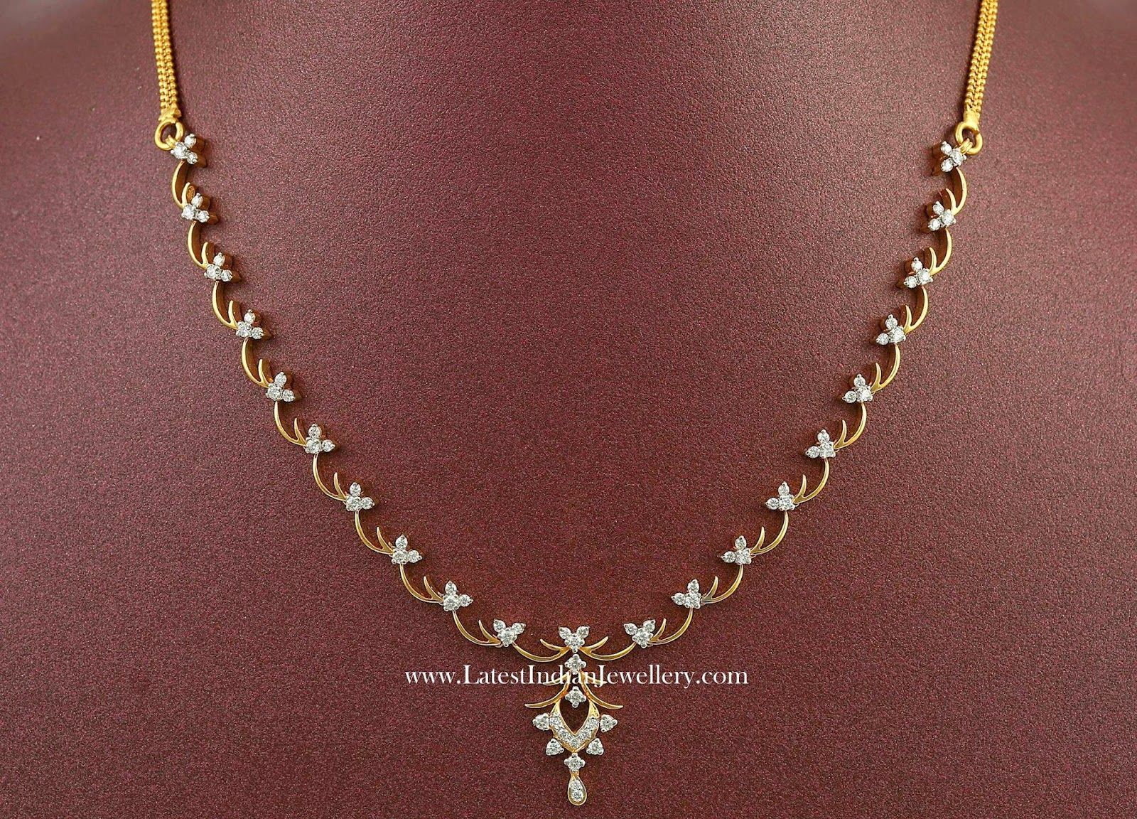 simple indian diamond necklace designs jewelry