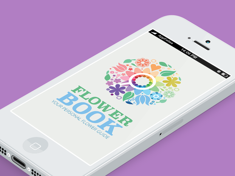 FlowerBook logo & app design v.1.0