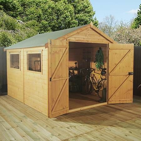 Garden Sheds 10 X 8 10 x 8 waltons groundsman tongue and groove apex garden shed