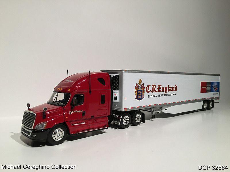 Diecast Replica Of C R England Freightliner Cascadia Dcp 32564 Freightliner Freightliner Cascadia Diecast