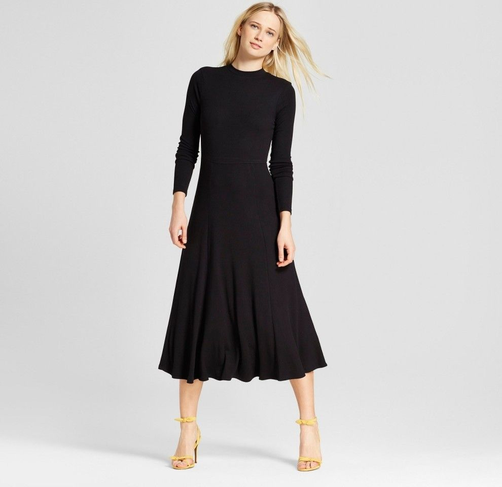 37 Things From Target Everyone Will Think You Got At Some Fancy Af Store Womens Black Dress Casual Dresses For Women Little Black Dress [ 960 x 990 Pixel ]