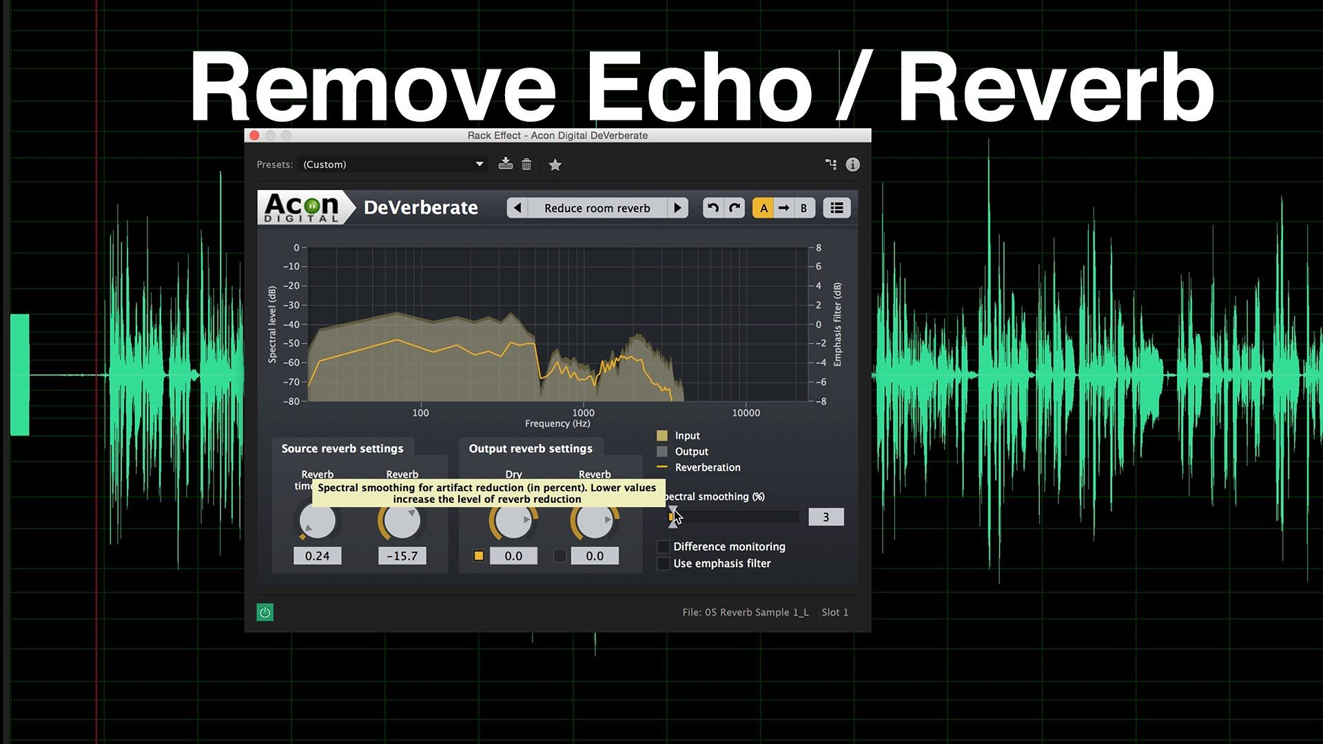 Audio Echo Remove Echo And Reverb From Dialogue Audio Audio Music