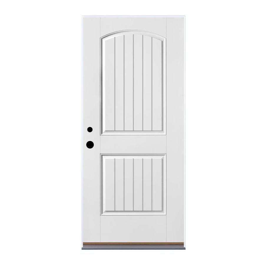 Therma Tru Benchmark Doors Right Hand Inswing Fiberglass Entry Door With Insulating Core Common 36 In X 80 In Entry Doors Fiberglass Entry Doors Therma Tru