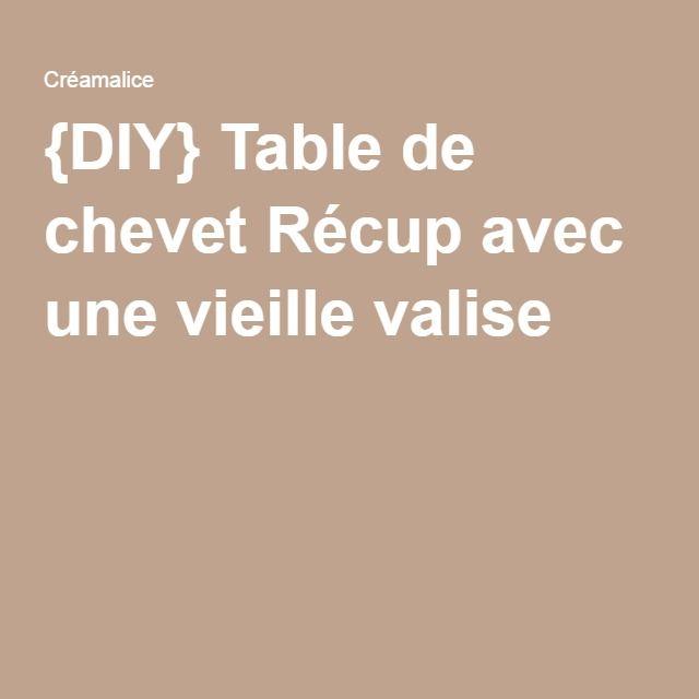 {DIY} Table de chevet Récup avec une vieille valise