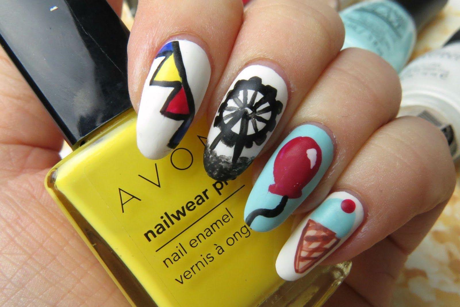 carnival circus nail art design