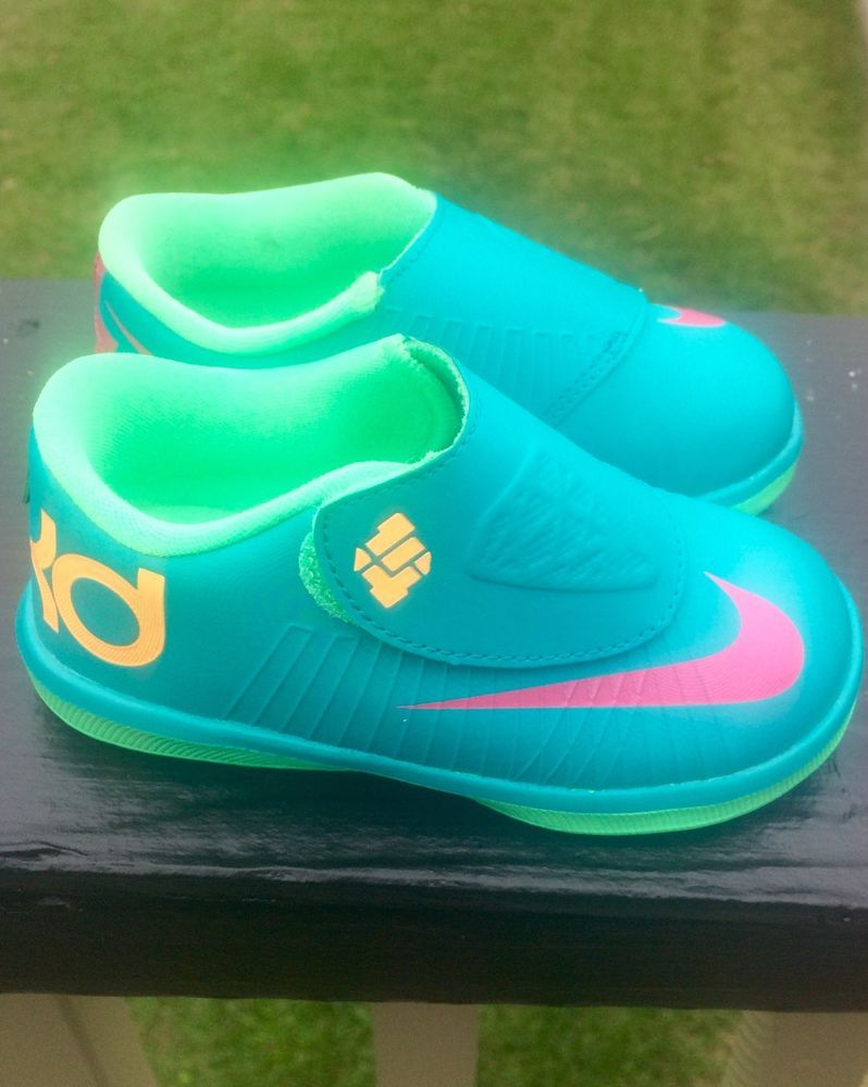 kids shoes Nike KD VI (6) AQUA FUSCHI lime Boys Youth PS Size 7C Toddler  new  Nike  Athletic 5361f61826a4