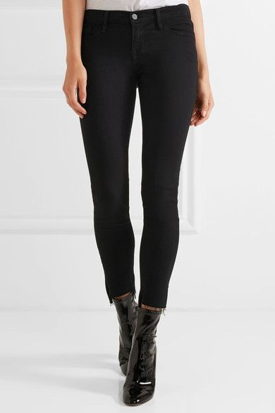 Le Skinny de Jeanne Black Low Rise jeans Frame Denim With Credit Card Free Shipping r0nwtbJ6bN