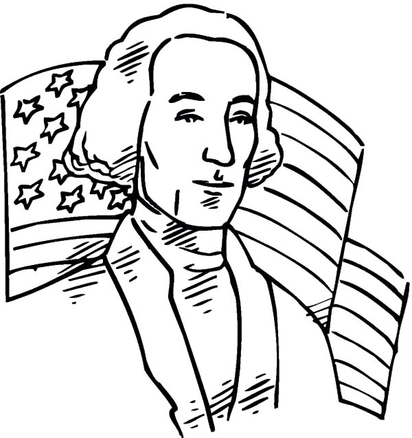 American Flag Behind Us 1st President For Independence Day Coloring Pages Download Print Curious George Coloring Pages Coloring Pages American Flag Colors