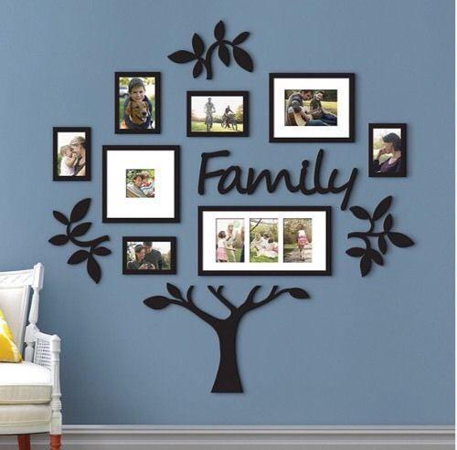 13 piezas conjunto de árbol familiar Collage De Pared Pasillo Foto ...