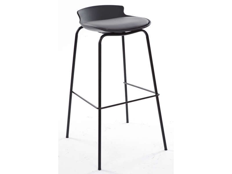 nice Tabouret de bar SOHAN coloris gris rouge - Conforama Check more - Conforama Tables De Cuisine