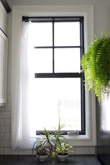 Remodelaholic Decorating With Black 13 Ways To Use Dark Colors In Your Home Interior Window Trim White Windows Black Window Frames
