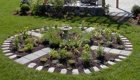stepping stones and bark mulch garden paths pinterest herb garden design paths and herbs garden