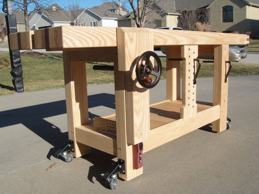 Beautiful Bench Design  Garage Workbench With Drawers Plans