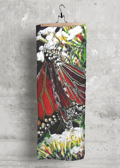 Butterfly Black Scarf
