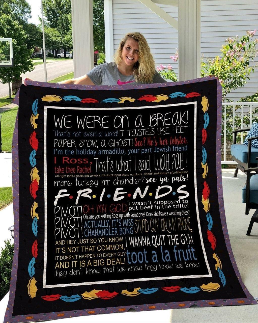 Friend Tv Show FunArt Fleece Blanket
