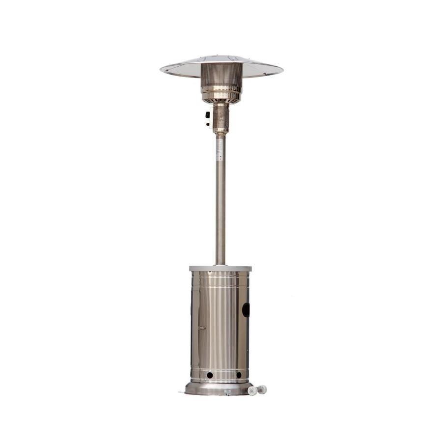 Garden Treasures 48000 Btu Stainless Steel Floorstanding Liquid Propane Patio Heater Lowes Com In 2020 Propane Patio Heater Gas Patio Heater Patio Heater