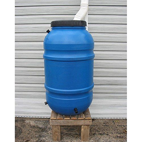Upcycle 55 Gallon Blue Rain Barrel Want Additional Info Click On The Image This Is An Amazon Affiliate Link And I Receive A Commission For The Paso A Paso