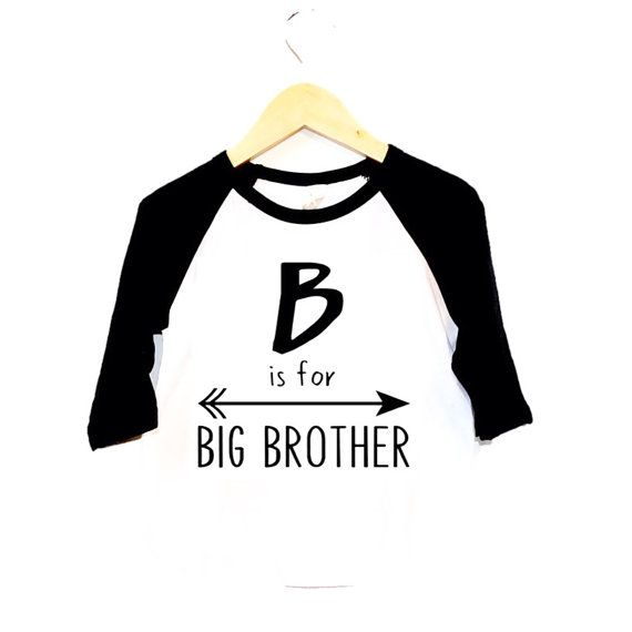 1bdaebbe6476 Items similar to Big Brother tee- B is for Big Brother- Inspirational  Alphabet - Child t-shirt - tee - raglan - toddler, baby, infant - American  Apparel on ...