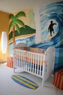 Christie Chase August 2009 Surfer Baby Nursery Room Boy Surf
