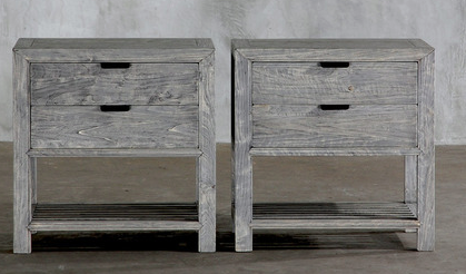 """Club Cu night stands 28""""x 17""""d x 28""""h 8-12 weeks delivery gray color is called light elm $795 each"""