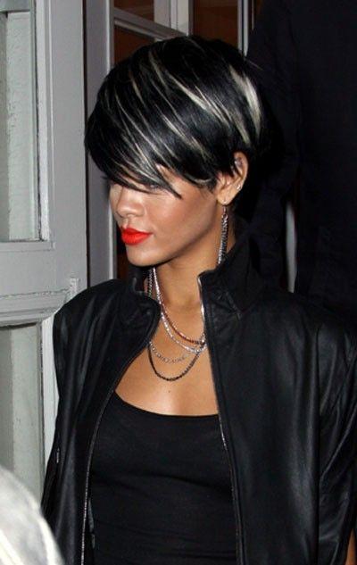 Rayitos para cabello corto y negro
