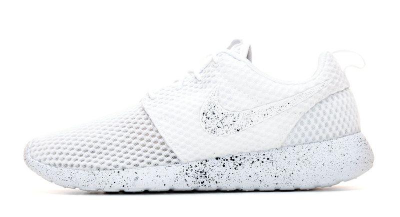 cheaper d1b9c 22416 Fashion 2018 2018 glitter kicks Nike Roshe One Customized by Glitter Kicks  White Black Paint Speckle