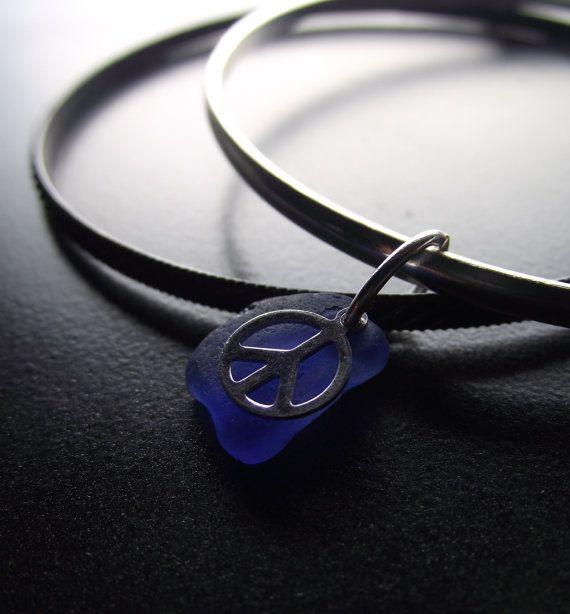 sea glass bangles