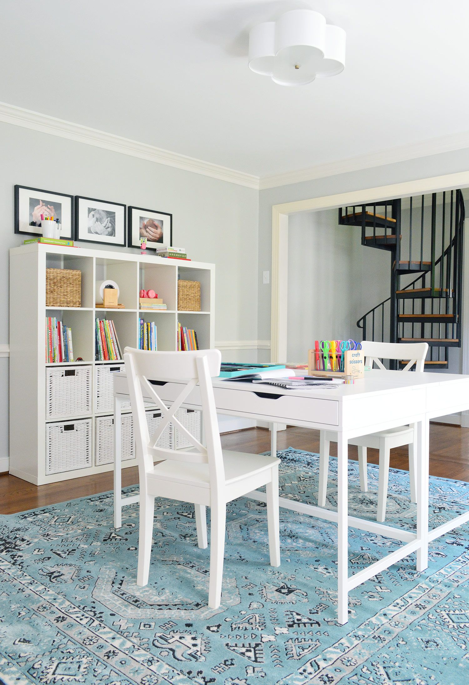 easy makeover a hardworking homework room homework spaces and easy