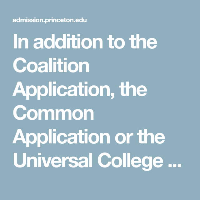 In addition to the Coalition Application, the Common