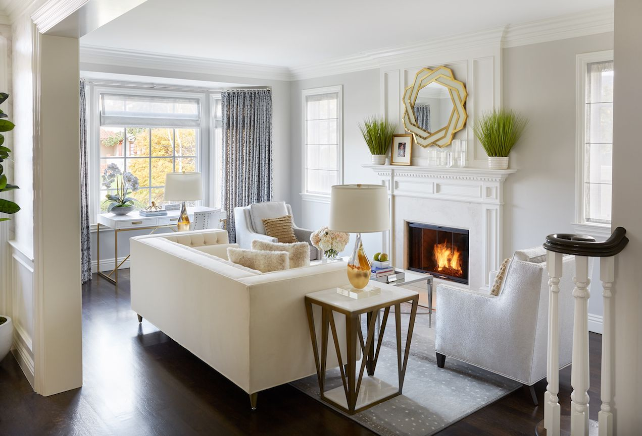 An Elegant Home for a Young Family  Stylish living room, Living