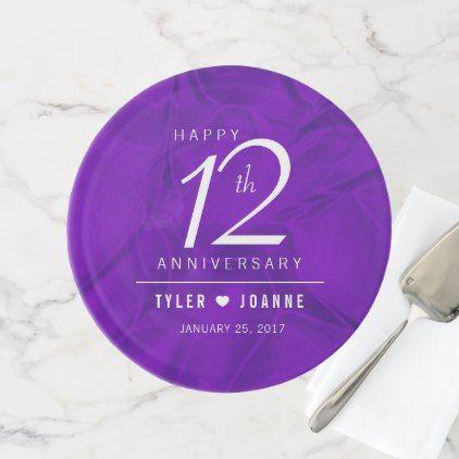 Elegant 12th Silk Wedding Anniversary Celebration Cake Stand