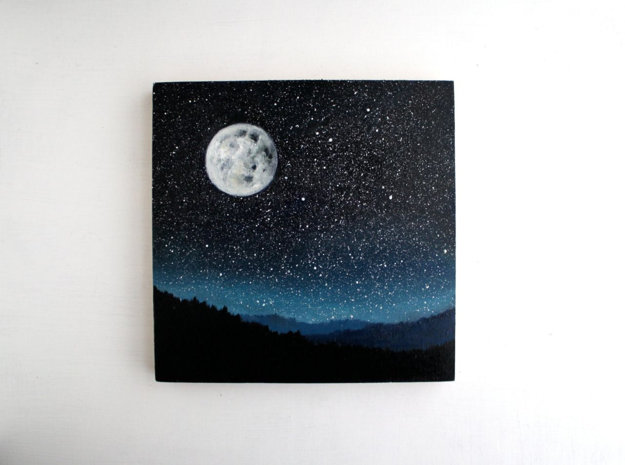 Nature Inspired Oil Paintings   Indie boutique TreeHollowDesigns showcases their stunning hand-crafted work with a series of day night and nature-themed collections. Depicting a vibrant starry night TreeHollowDesigns highlights the deep blue color of the cosmos and its glimmering stars. You can check out more adorable designs at their Etsy shop.   Find similar posts here!