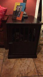 fancy dog crates furniture. #dog Crate Furniture, End Table, #decorative Dog Crates, Fancy Crates Furniture