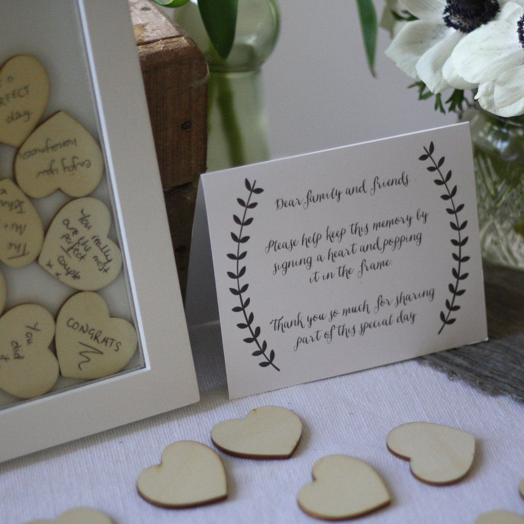Wedding Guest Boook Wooden Heart Drop Top Book Available From Theweddingomd