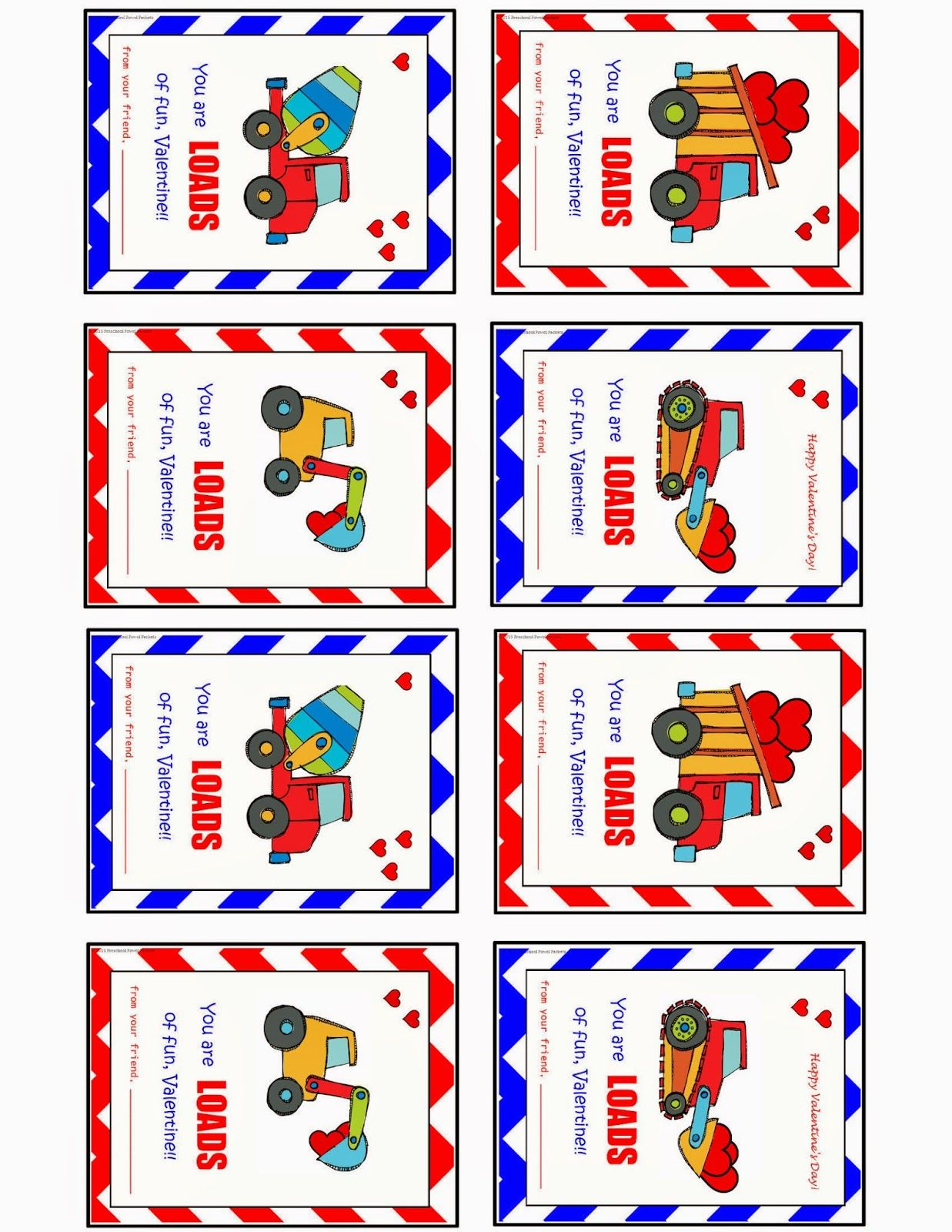 Preschool Powol Packets Free Printable Construction
