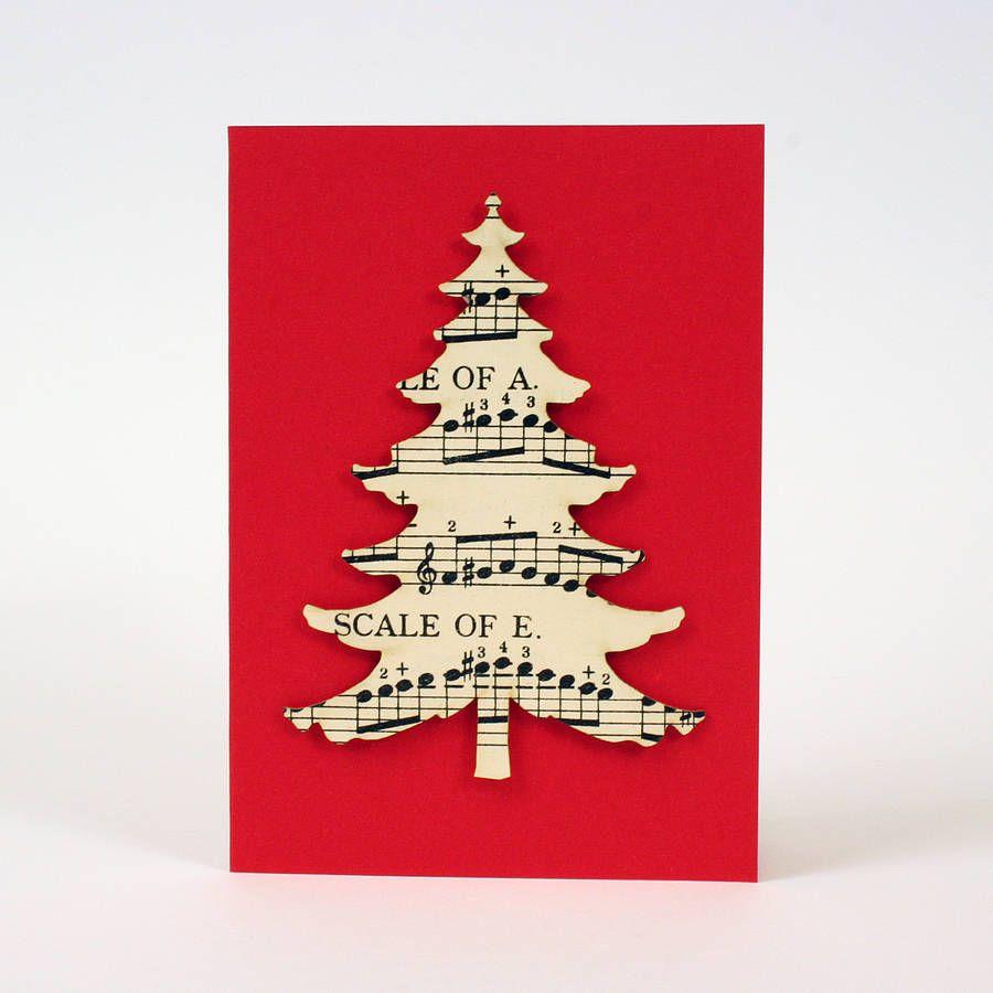 vintage music christmas tree card - Google Search | Christmas ...